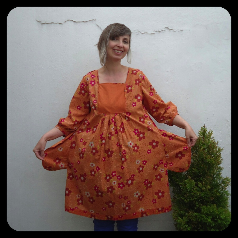 Gudrun Sjoden dress - inside out!