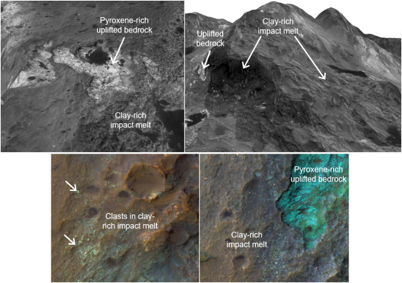 study finds evidence for more recent clay formation on mars