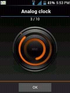 Miui Clock Widget