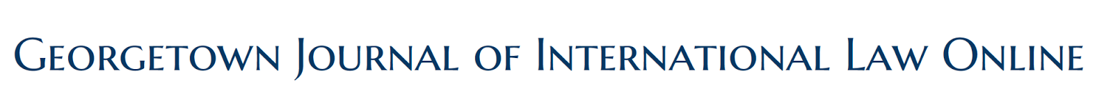Georgetown Journal of International Law Online