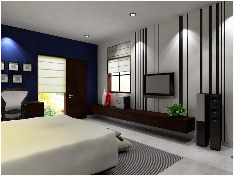 Haus Entwurf: Minimalistisches Schlafzimmer Paint Farbe Mann 2016