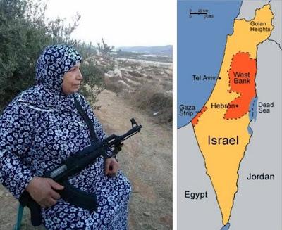 mujahidah tua palestina menjaga perbatasan