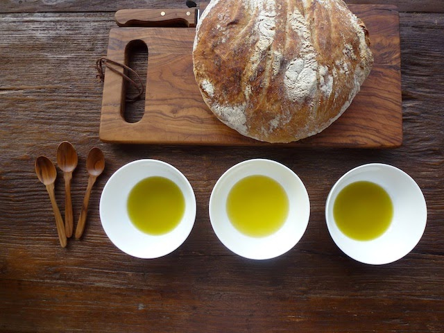 Taste olive oil with bread