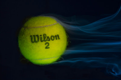 A Smoking Tennis Ball