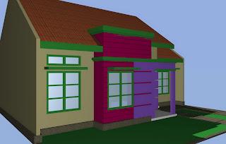 Desain rumah type 75