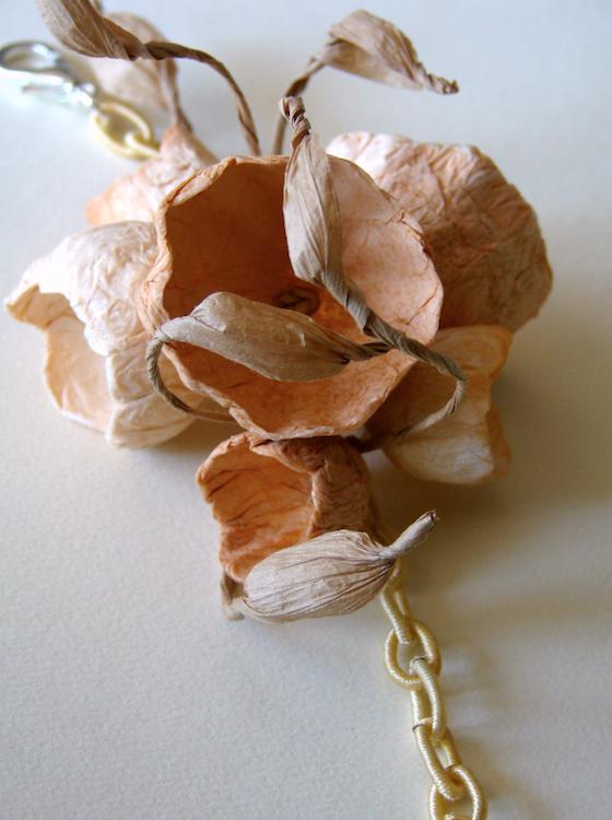 Eco gioielli : bracciale per matrimonio color terra di siena