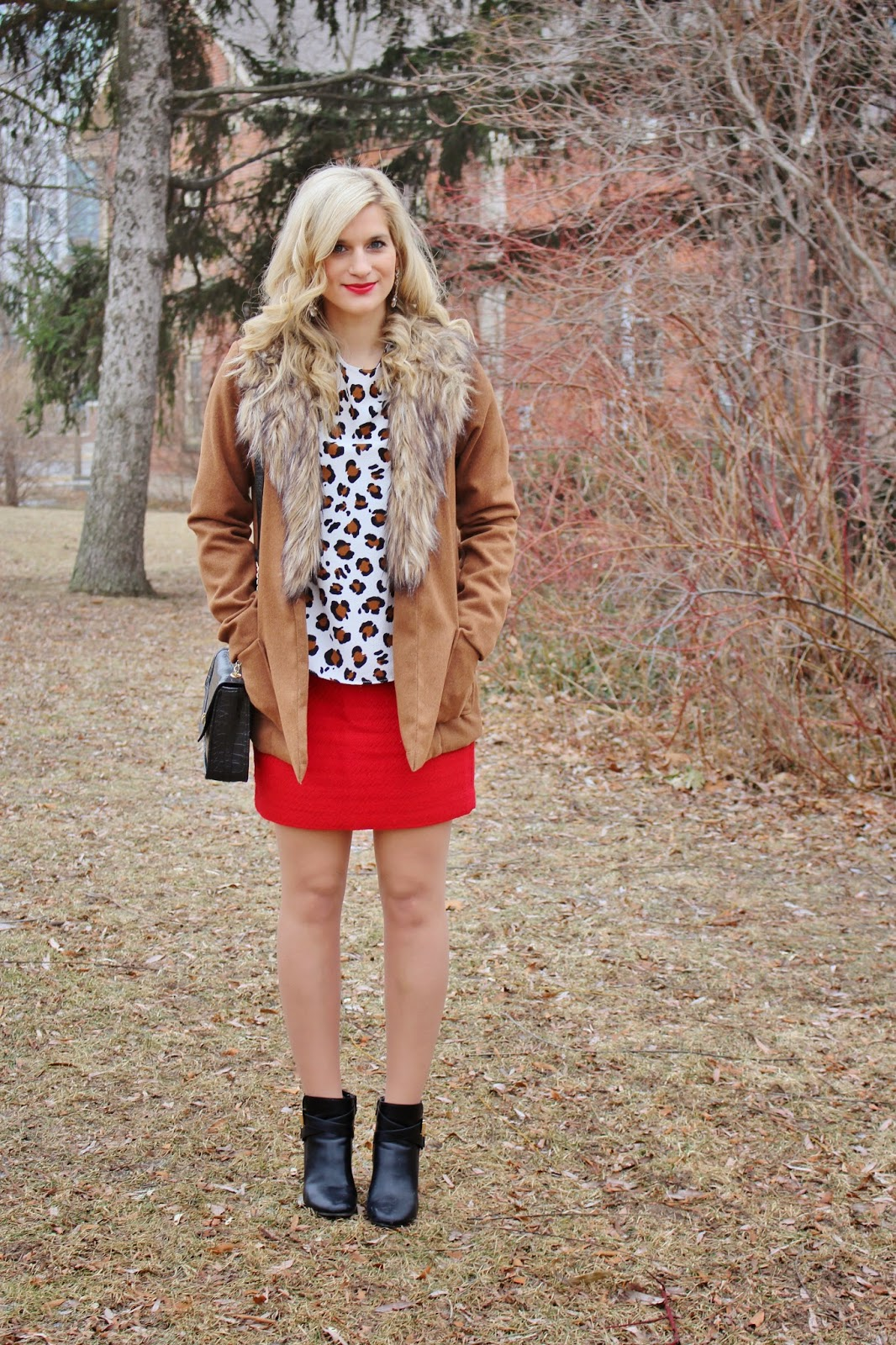 bijuleni, red skirt, print top, winter, banana republic,forever21, zara, Old Navy