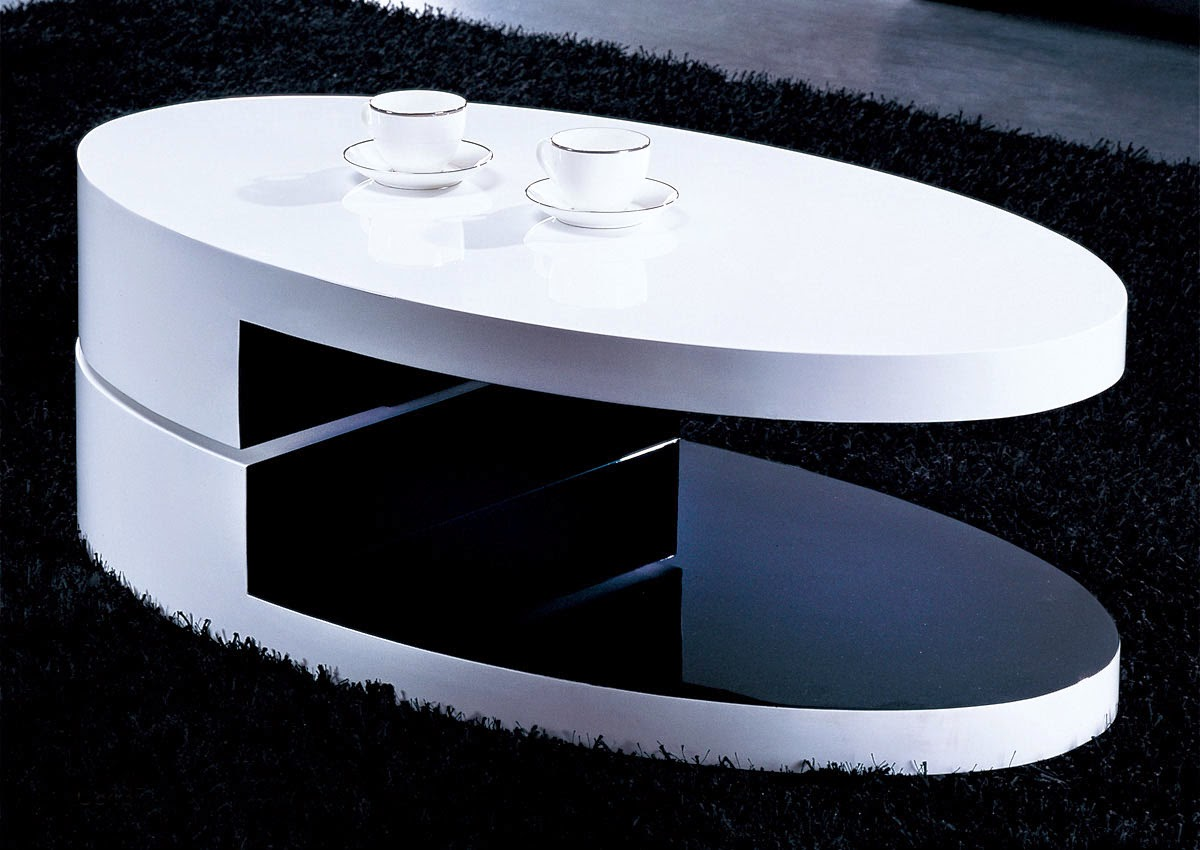 25 elegant oval coffee table designs made of glass and wood Contemporary coffee tables design