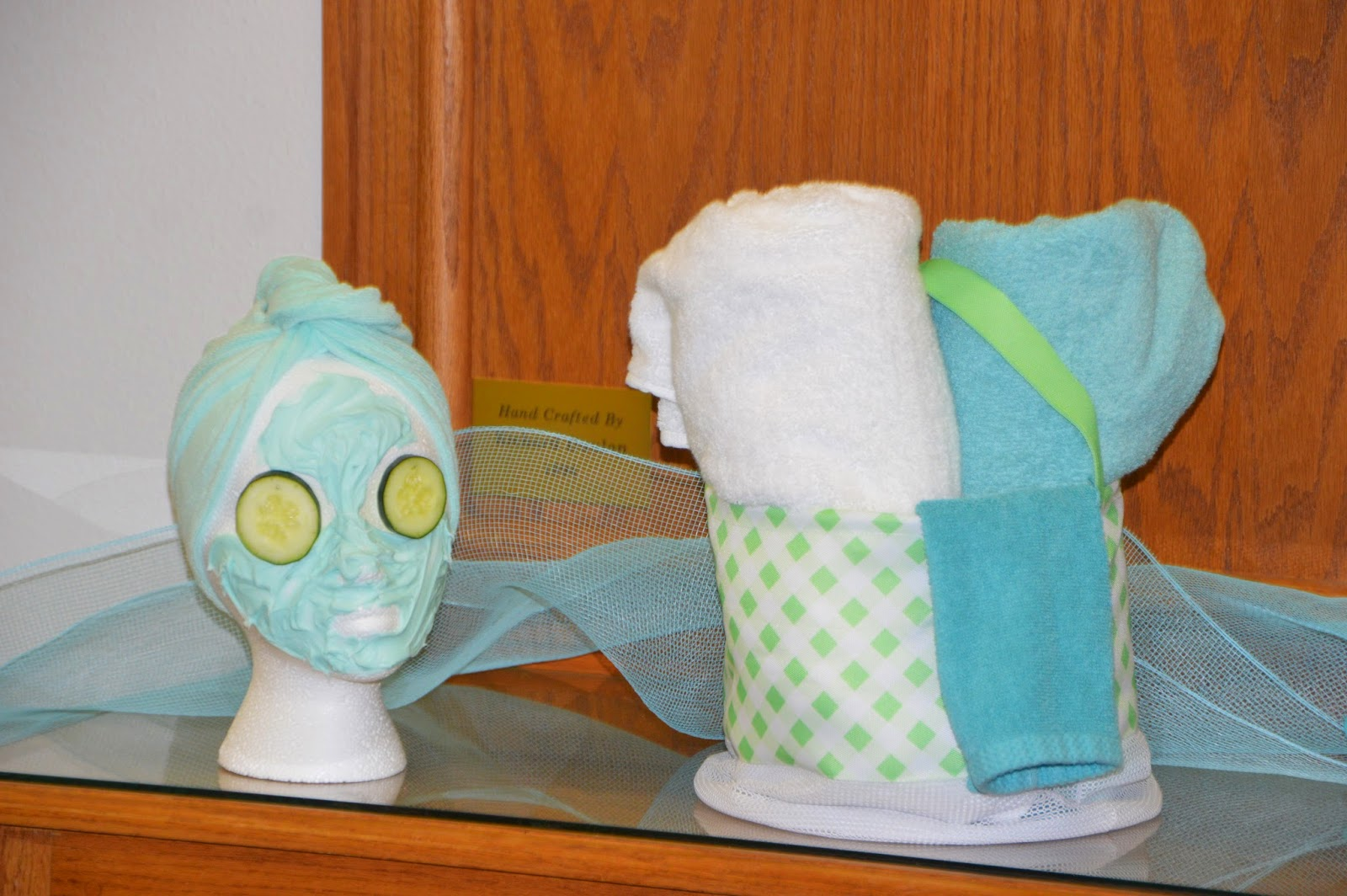The Foyer Of Building Had More Decorated Wig Heads Plus These Pretty Easter Baskets From Target Made Into Spa
