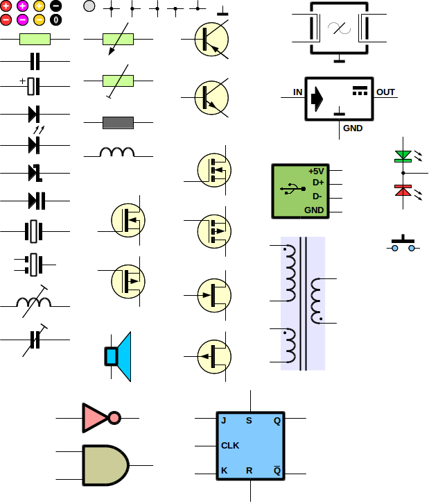 Draw electronic schematics using LibreOffice