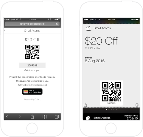 Apple Wallet coupon consumer