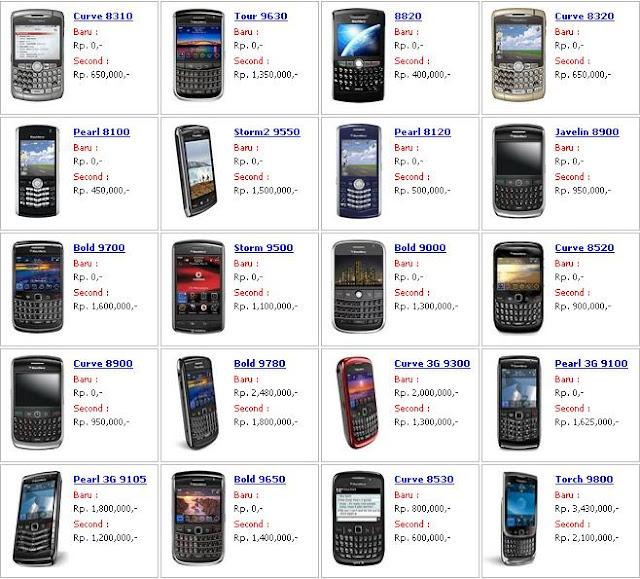 Harga HP bekas Blackberry - exnim.com