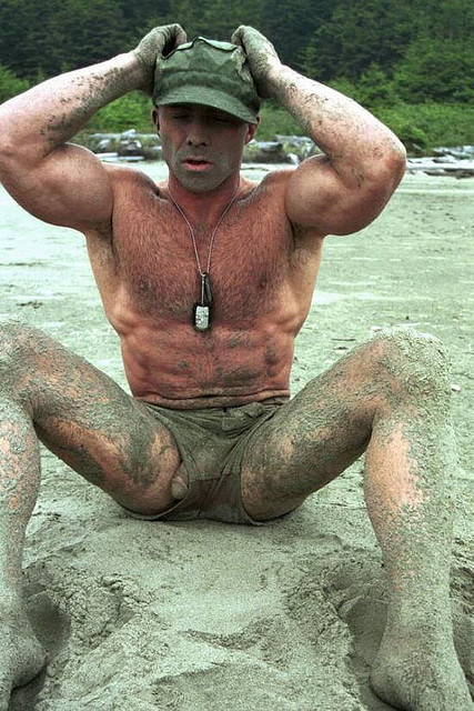 Live nude military men