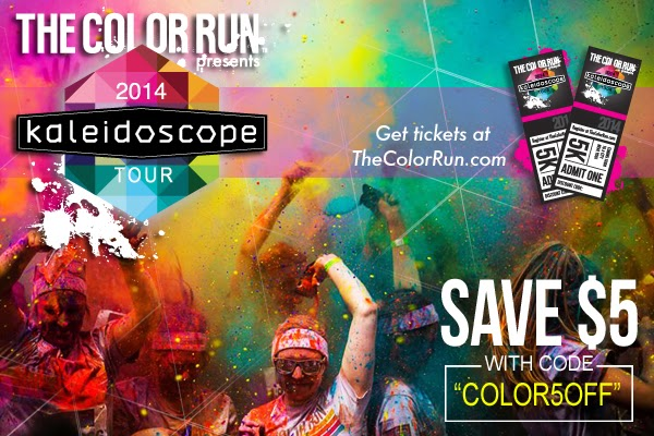 Color+Run+Discount New Kaleidoscope Tour, The Color Run in 2014!  $5 off Discount Code