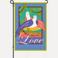 ove birds garden flag