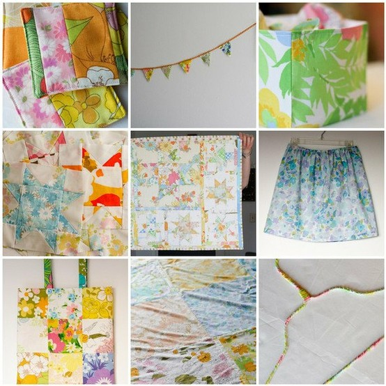 28 fabulous vintage sheets projects that you will love making for your home decor. Vintage sheets can make some beautiful home decor ideas for your quirky little haven. Click through to see 28 different ways in which you can upcycle old material