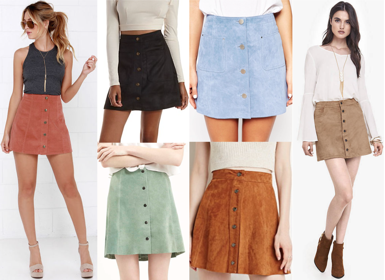 Sunday Spotlight: Button Up Suede Mini Skirt - Paint The Town Chic