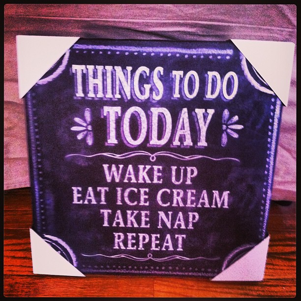 To Do wake up eat ice cream take nap repeat sign wall art marshalls tj maxx