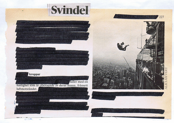 aliciasivert, alicia sivertsson, collage, blackout, svindel