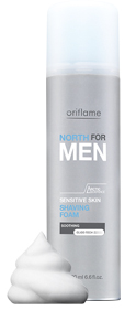 Espuma de Barbear Para a Pele Sensível North For Men da Oriflame
