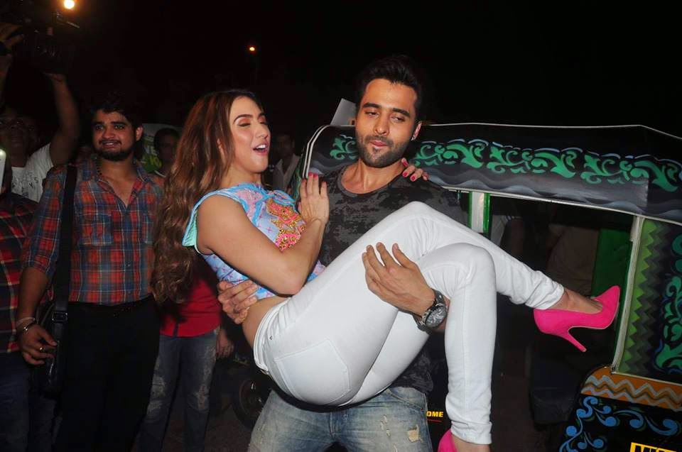 Celebs Jackky Bhagnani and Lauren Gottlieb Promote Welcome To Karachi
