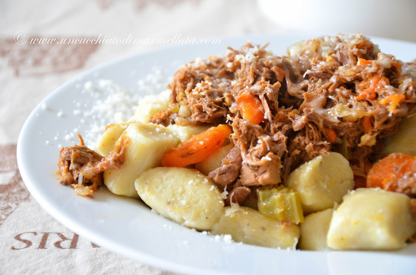 gnocchi di patate americane con stracotto di anatra