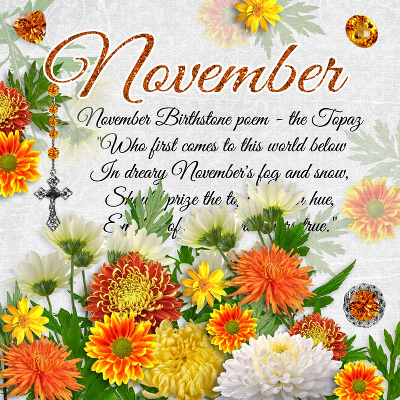 It is an image of Vibrant November Birthday Clipart