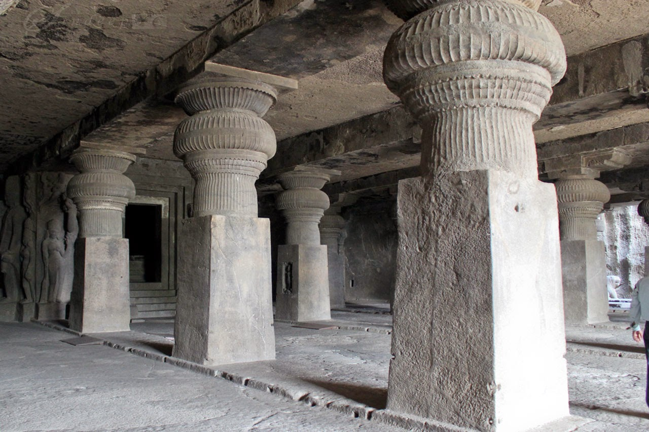 Massive Pillar structures inside the cave