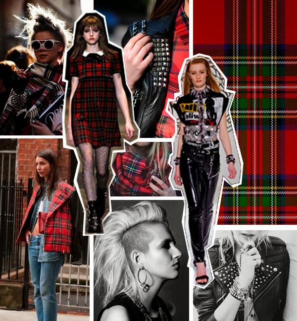 Punk Trend, Autumn, Tartan, Plaid, Checks