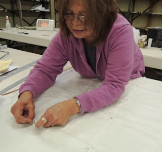 artisan hands, roman shade, Wesco Fabrics, custom workroom