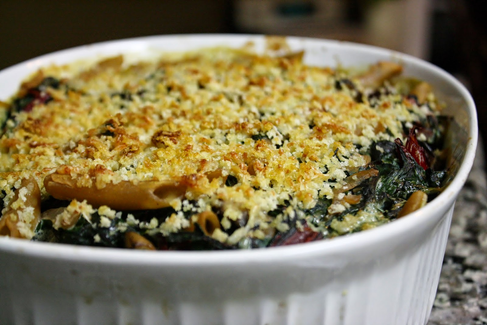 http://eatprayjuice.blogspot.com/2014/12/baked-pasta-with-chicken-and-swiss-chard.html