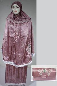 Mukena Lukis Model 4 - Ungu Anggur Muda (Toko Jilbab dan Busana Muslimah Terbaru)