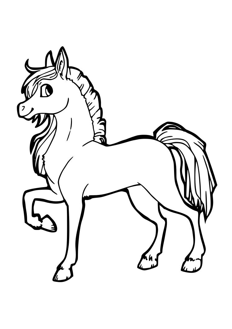 Dibujos caballos colorear imprimir - Imagui