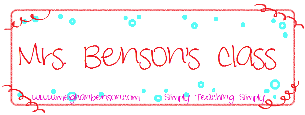 Meghan Benson :: Mrs. Benson's Class
