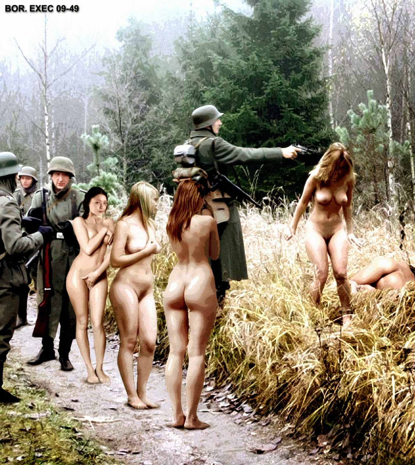 В лагере фашистском видео порно девушка