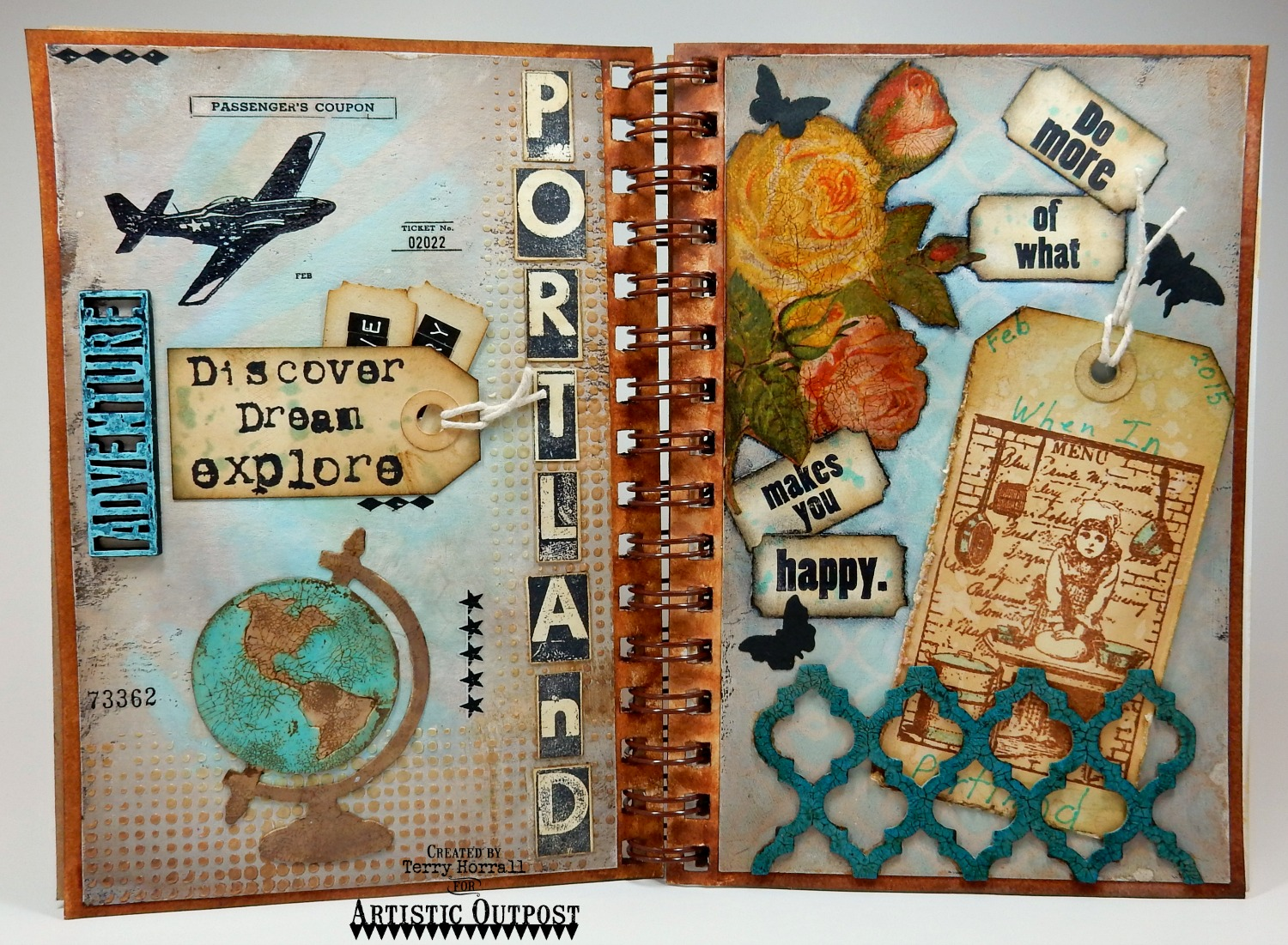 Stamps - Artistic Outpost The Baker, Industrial Backgrounds, Huck Finn, Secretary Pool, Typography