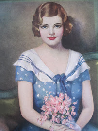 Painting of a 1930s Lady