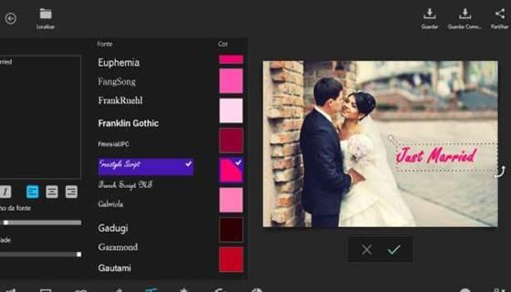 App integrado de edição de imagem para fotógrafos de qualquer nível