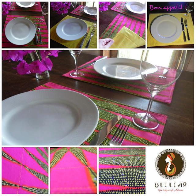jogo americano da Belecar em tecido africano para decorar sua casa no estilo boho
