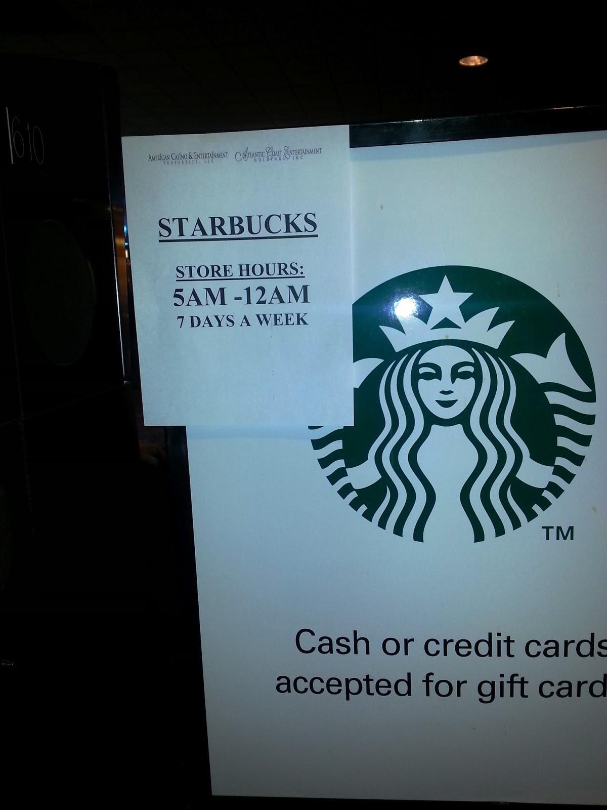 New Hours At The Starbucks In Aquarius