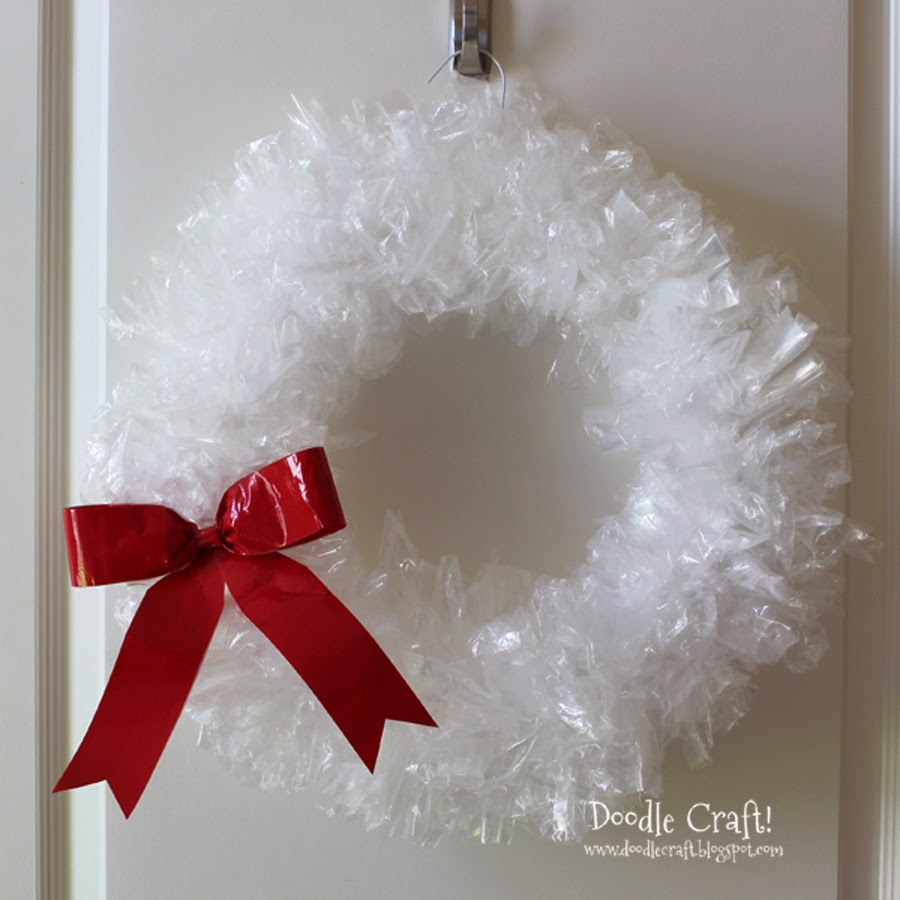doodlecraft sandwich bag wreath