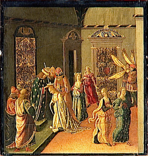 Esther crowned by Ahasuerus