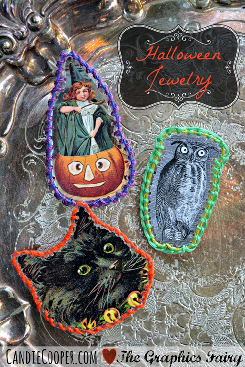 halloween stitched jewelry