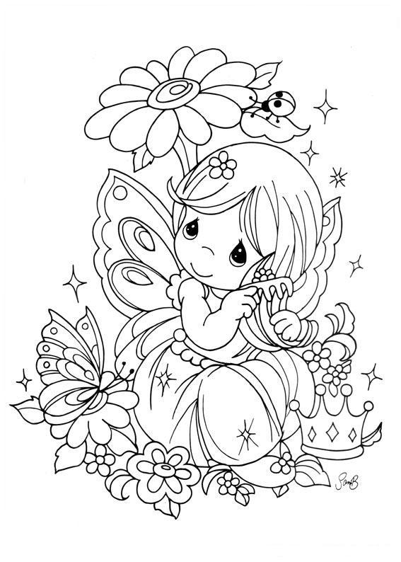 Drawing fairy precious moments coloring child coloring for Coloring pages precious moments print