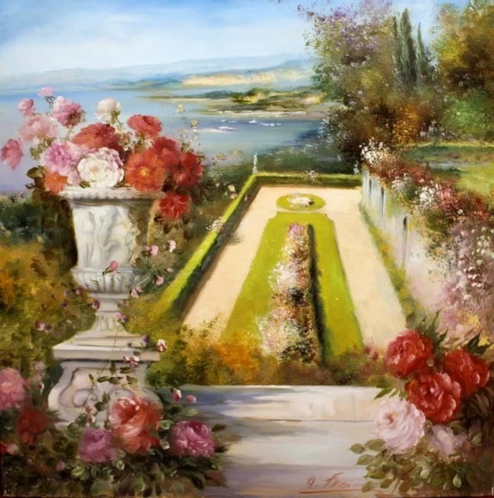 Romantic Venice painting by Lovilla Chantal