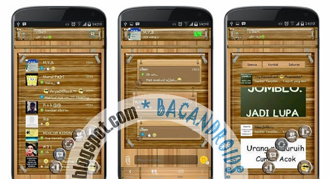 download BBM Mod wood atau kayu apk