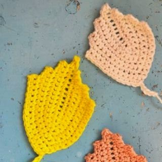 DIY crochet leaves