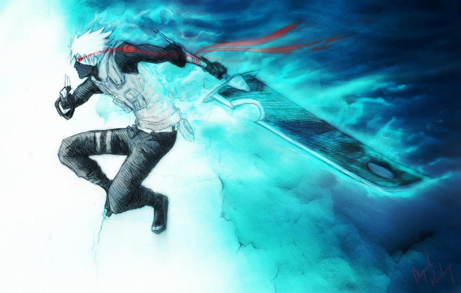 Naruto Shippuden Kakashi Lightning Blade widescreen wallpaper (1600 x 1019 )