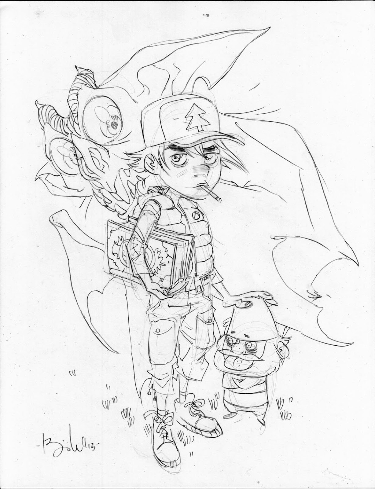 gravity falls coloring pages dipper - photo#30