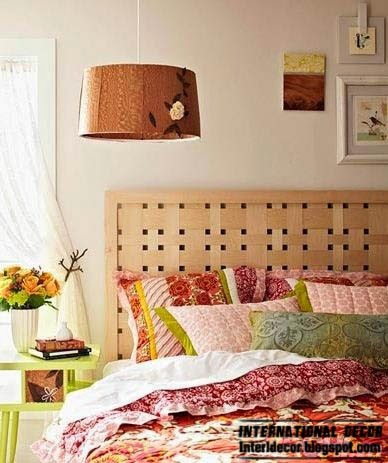 unique wood headboard, king size headboard, creative headboard designs
